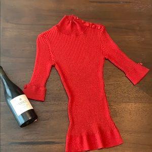 INC Red quarter length sweater